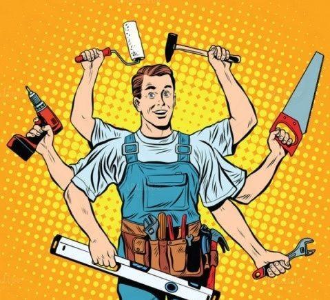 Мужчина мастер по ремонту