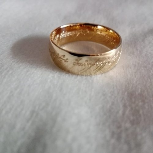 Гравировка на кольце Властелин колец