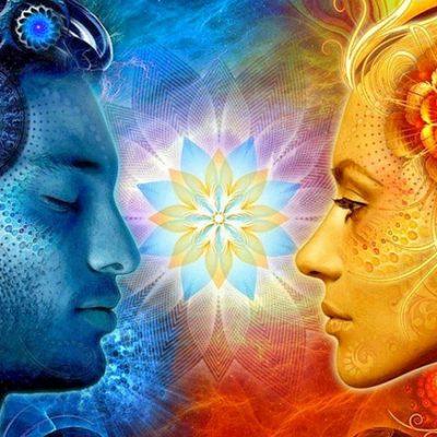 Лица в профиль мужчины и женщины